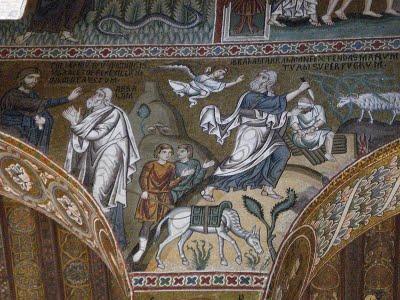 O Sacrifício de Abraão - Capela Palatina do Palazzo dei Normanni
