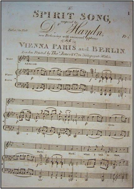Haydn Spirit Song