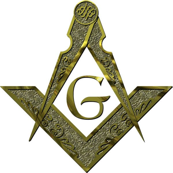 Masonic G - Embossed